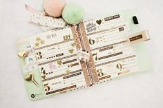 Frank Garcia - new planner layout with lots of foil washi