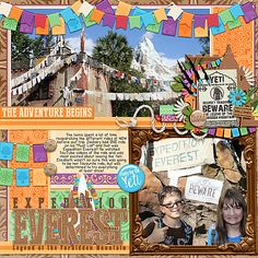 Template: Pocket Perfect Volume 14 (Kellybell Designs) Kits: Everest Expedition (Kellybell Designs), Everest Expedition Page Starters (Kellybell Designs), Everest Expedition Word Art (Kellybell Designs), Everest Expedition Tags & Flairs (Kellybell Designs)