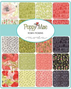 Poppy Mae Charm Pack  Robin Pickens for Moda  5 Inch by Jambearies