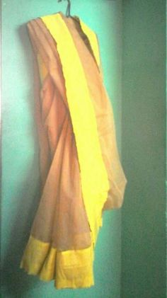 #beige cotton saree#