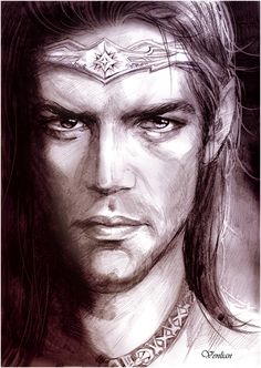 Caranthir, also known as Caranthir the Dark, was the fourth son of Fëanor and the harshest and the quickest to anger of his seven brothers. He perished along with his brothers Celegorm and Curufin during the Second Kinslaying the attack by the Sons of Fëanor on Menegroth to recover the Silmarils from Elven King Dior of Doriath.  Caranthir by Venlian.deviantart.com on @deviantART