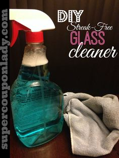DIY Streak Free Glass Cleaner! Inexpensive, healthier and perfect to Re-PIN especially if you run out! http://www.supercouponlady.com/2014/01/diy-streak-free-glass-cleaner.html/