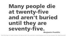 Benjamin Franklin - Dirty Yoga 44 #quotes