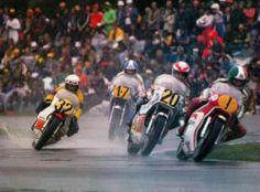 Assen 1977. 1 Agostini, 20 Gianni Rolando, 32 Steve Baker, 17 Armando Toracca.