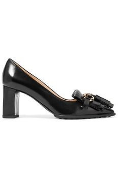 TOD'S Fringed Leather Pumps. #tods #shoes #pumps
