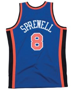 Mitchell  amp  Ness Men s Latrell Sprewell New York Knicks Hardwood Classic  Swingman Jersey - Blue 1d80032ee