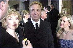 "2002 or 2001 -- Alan Rickman during the run of ""Private Lives."""