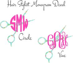 A personal favorite from my Etsy shop https://www.etsy.com/listing/228074502/hair-stylist-monogram-car-decal