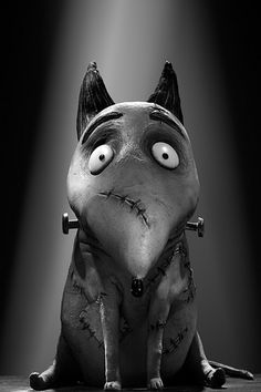 Sparky from Walt Disney Pictures' 'Frankenweenie', directed by Tim Burton. Art Tim Burton, Tim Burton Stil, Tim Burton Kunst, Film Tim Burton, Tim Burton Characters, Burton Burton, Tim Burton Personajes, Desenhos Tim Burton, Caricatures