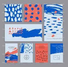 Set of creative universal cards. Hand Drawn textures. stock vector art 87504983 - iStock