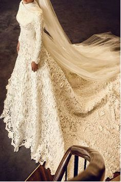 Muslim A Line Wedding Dress With Veil Full Sleeve Vestidos De Noiva Appliques Long Wedding Dresses Robe De Mariage Casamento Hijabi Wedding, Muslim Wedding Gown, Muslimah Wedding Dress, Modest Wedding Gowns, Muslim Wedding Dresses, Wedding Dress With Veil, Muslim Brides, Lace Mermaid Wedding Dress, Wedding Wear