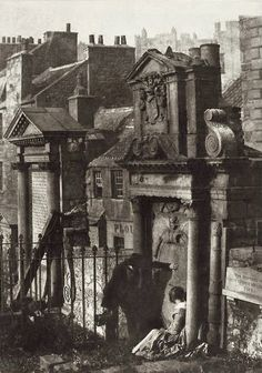 Covenanter's Tomb, Greyfriars Churchyard, Edinburgh, Scotland. Photographed by David Octavius Hill and Robert Adamson, circa Victorian London, Victorian Era, Mary Shelley, Old Pictures, Old Photos, Vintage Pictures, The Frankenstein, London History, British History
