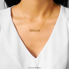 Bar Necklace Coordinate Necklace Personalized by Amoorella on Etsy
