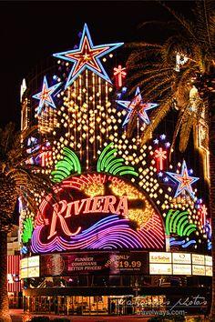 Neon decorations at Riviera, Las Vegas Strip