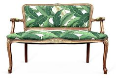 antique loveseat with contemporary fabric - Google Search