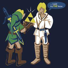 @Ariana Raska - Zelda/Star Wars cross over = brilliant