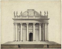 "archimaps:  ""Elevation for a temple design, France  """