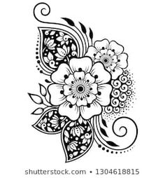 Find Mehndi Flower Pattern Henna Drawing Tattoo stock images in HD and millions of other royalty-free stock photos, illustrations and vectors in the Shutterstock collection. Thousands of new, high-quality pictures added every day. Mehndi Tattoo, Henna Tattoo Designs, Rangoli Designs, Mehndi Designs, Mehndi Flower, Paisley Flower Tattoos, Henna Drawings, Mehndi Drawing, Muster Tattoos