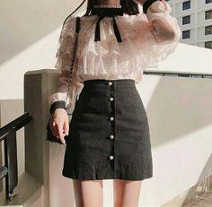 Turtle Neck Blouse And Boots Korean Fashion - Korean Fash.Turtle Neck Blouse And Boots Korean Fashion - Korean Fash. Korean Girl Fashion, Korean Fashion Trends, Ulzzang Fashion, Korean Street Fashion, Kpop Fashion, Kawaii Fashion, Cute Fashion, Asian Fashion, Fashion Ideas