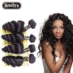 Indian Virgin Hair Extension 4 bundles Human Hair Indian Loose Wave Rosa Hair Products 6A Unprocessed Virgin Hair Weave