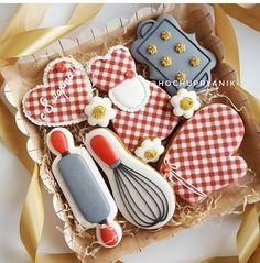 Ideas For Baking Desserts Creative Fun Christmas Cookies Fancy Cookies, Iced Cookies, Cute Cookies, Royal Icing Cookies, No Bake Cookies, Cookies Et Biscuits, Cupcake Cookies, Sugar Cookies, Fondant Cupcakes