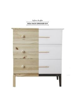 Before & After Ikea Tarva Dresser DIY (Earnest Home co.)