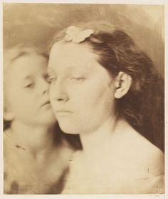 Cupid & Psyche; Mother and Child by Julia Margaret Cameron, England, 1864-65. l Victoria and Albert Museum #Valentine'sDay