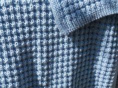 Suzies Stuff: WARM WAFFLES BABY BLANKET