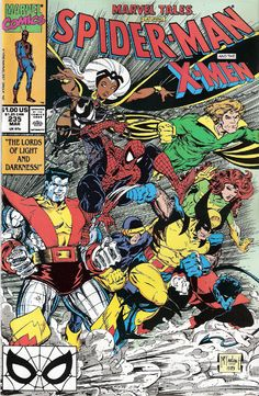 X-Men and Spider-Man by Todd McFarlane