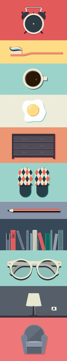 Day #1 by Valentina Ferioli, via Behance