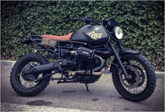 "Cafe Racer Dreams from Madrid took a BMW R1100 GS and transformed it into this awesome ""Desert Scrambler""."