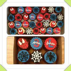 Spider-Man cupcakes www.facebook.com/cakeitorleaveitcakesbymarianne