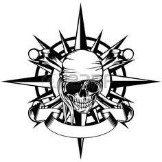 Pirate Skull Tattoos, Pirate Ship Tattoos, Compass Art, Compass Drawing, Dad Tattoos, Body Art Tattoos, Justice Tattoo, Graffiti Doodles, Norse Tattoo
