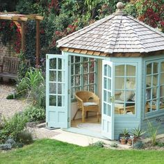 Malvern Garden Buildings - Sheds, Offices & Luxury Outdoor Buildings Outdoor Buildings, Garden Buildings, Outdoor Structures, Octagonal Summer House, Amazing Gardens, Beautiful Gardens, Fairy Pots, Woodland Lodges, Shed Cabin