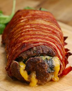 Bacon-Wrapped Burger Roll