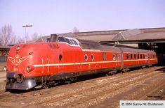 DSB's MA 464 old high-speed train, Denmark (1977)