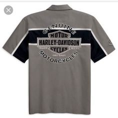 Mens authentic Harley-Davidson mechanics shirt Mens authentic Harley-Davidson mechanics shirt Harley-Davidson Tops Button Down Shirts