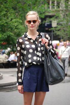 polka dots high waisted culottes #summer #fashion