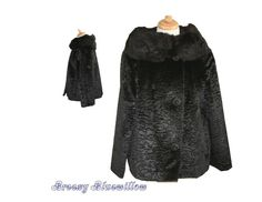 Vintage Black Fur Coat ~ Union Made - http://www.minkfur.net/vintage-black-fur-coat-union-made.html