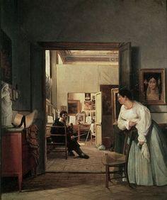 Jean Alaux - The Studio Of Ingres in Rome