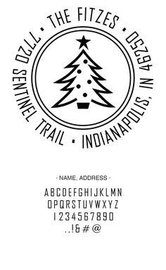 Custom Christmas Address Stamp - Three Designing Women