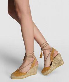VIDORRETA 12804 Cuero Suede Sandal Espadrilles | SPANISH SHOP ONLINE