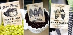 Hostess with the Mostess® - Halloween Printables Will have to remember the bat droppings - dk choc coated sultanas