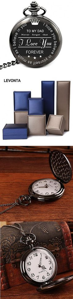 LEVONTA Pocket Watch Dad Gifts For Birthday From Daughter Son To My