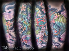 Japanese dragon leg sleeve