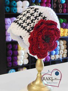 Bama Love Houndstooth Hat Crochet Pattern Pattern by Kristi Simpson