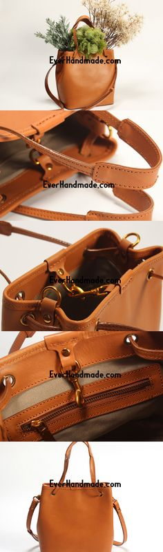Handmade Leather Tote Purse Bucket Bag Handbag Shoulder Bag Large for Women  Leather Shopper Bag 9bacdb9de471b
