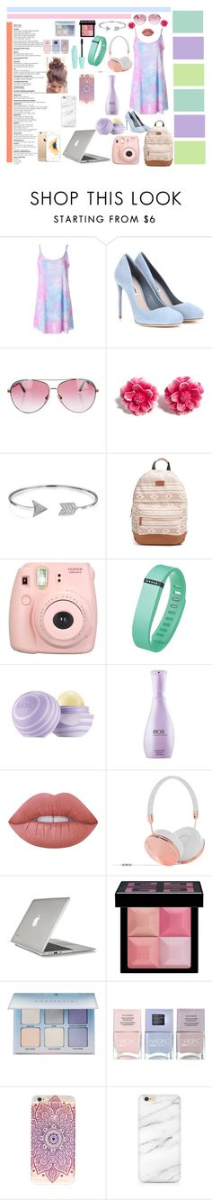 """Just too COOL for SCHOOL"" by potternerdjiya on Polyvore featuring Miu Miu, Minnie Rose, Tarina Tarantino, Bling Jewelry, Rip Curl, Fujifilm, Fitbit, Eos, Lime Crime and Frends"