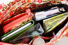 Great ideas on organizing your purse.