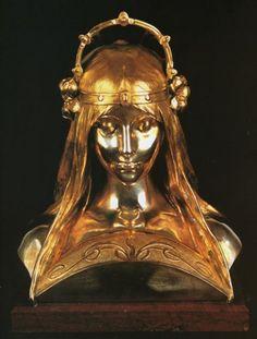 Alphonse Maria Mucha - Head of a Girl